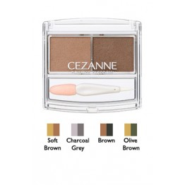 CEZANNE Powder Eyebrow R Тени для бровей Soft Brown