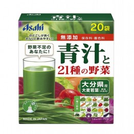 ASAHI Аодзиру зеленый сок ячменя и 21 вид овощей