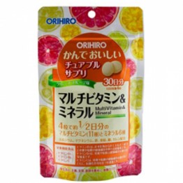 Мультивитамины и минералы со вкусом тропических фруктовOrihiro
