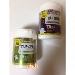UNIMAT RIKEN ZOO Железо + фолиевая кислота, 150шт