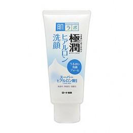 HADA LABO Gokujyun - увлажняющая пенка для умывания с гиалуроновой кислотой для сухой кожи