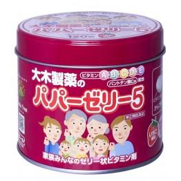 Papa Jelly Детские витамины желе с клубничным вкусом (банка)